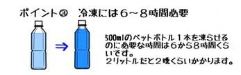 ペットボトルの凍らせ方3