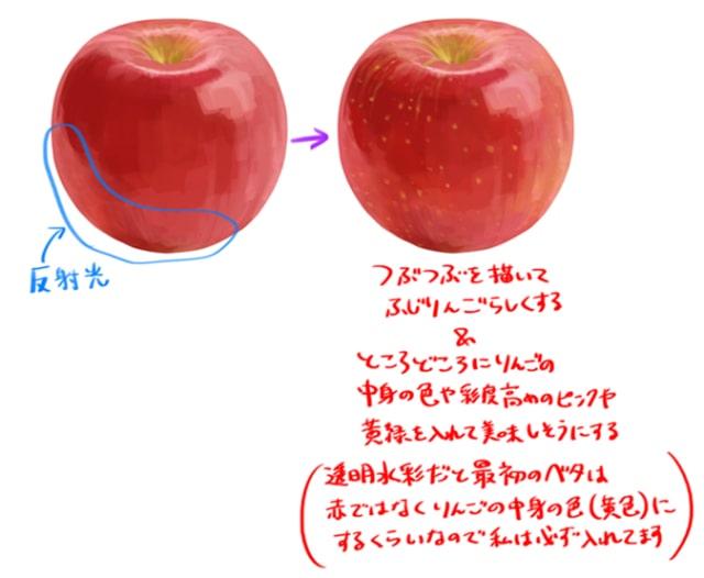りんごの描き方4