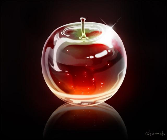 りんごの描き方7