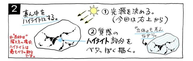 石の描き方2
