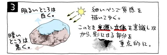 石の描き方3