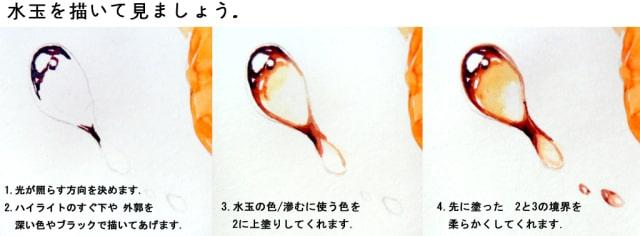 水彩画で水ニンジン10