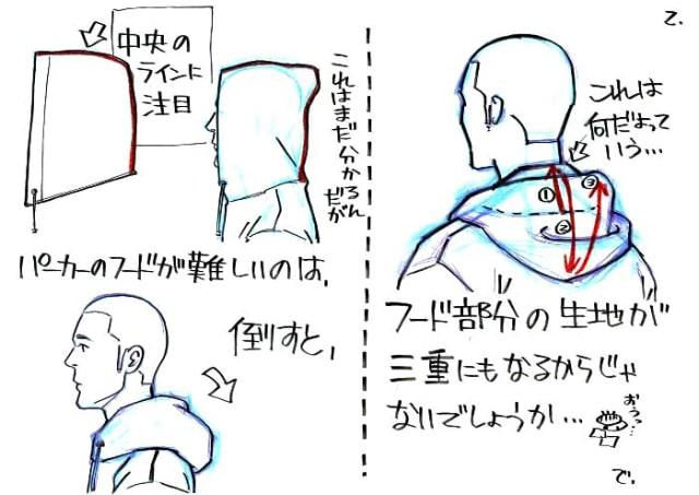 フードの描き方2