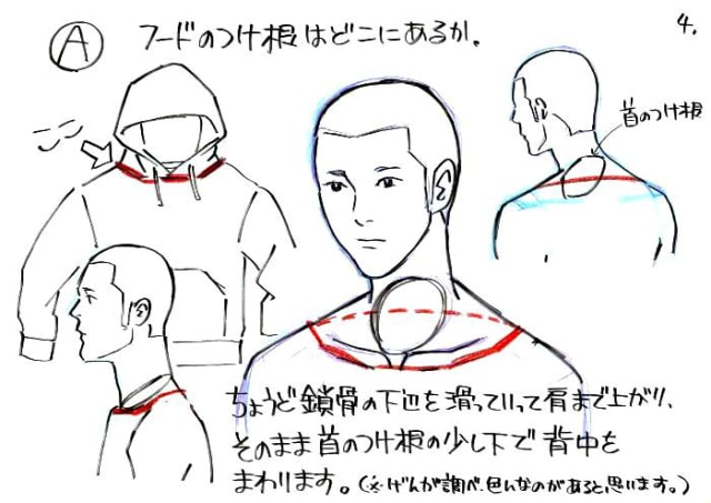 フードの描き方4