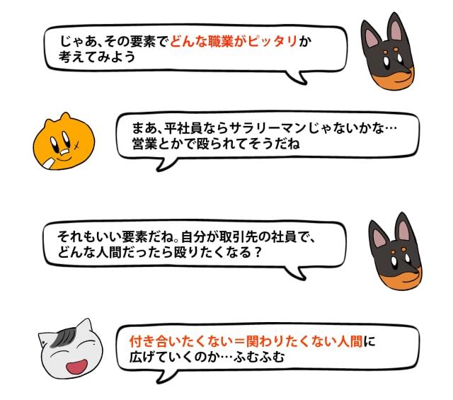 「キライ」からキャラクターをデザイン6