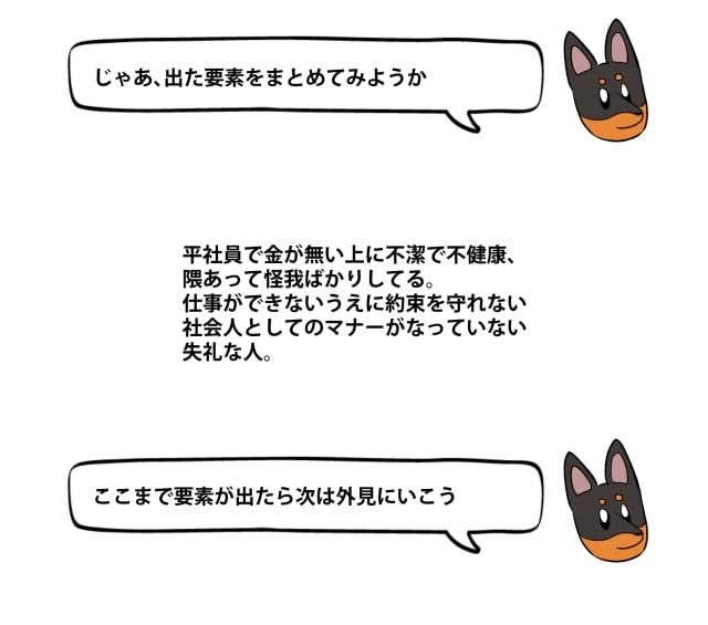 「キライ」からキャラクターをデザイン8