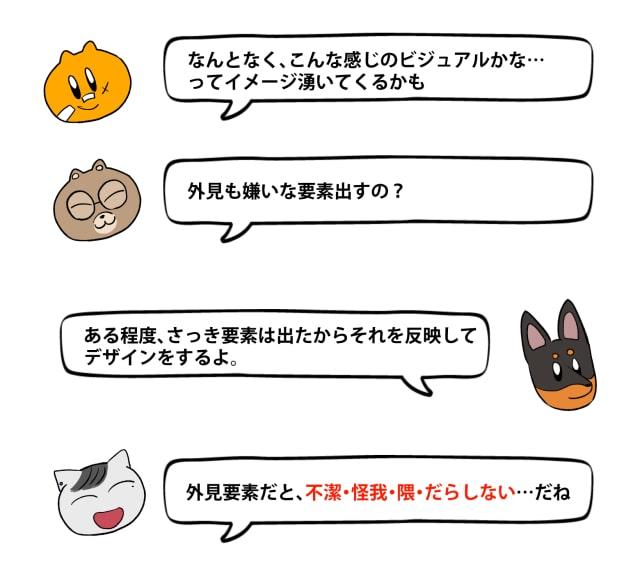 「キライ」からキャラクターをデザイン9