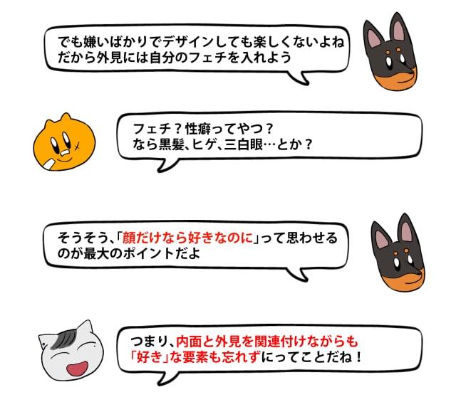 「キライ」からキャラクターをデザイン10
