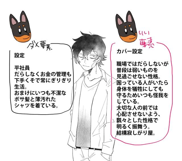 「キライ」からキャラクターをデザイン14