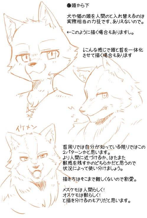 獣人の描き方10