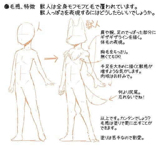 獣人の描き方11