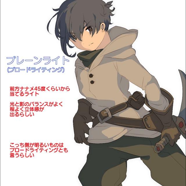 キャラクターのライトの種類2