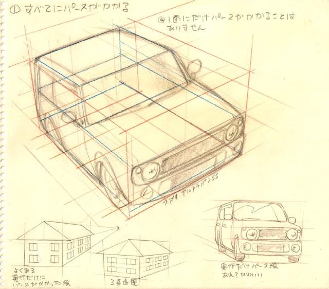 自動車の描き方2