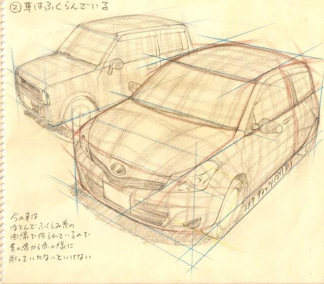 自動車の描き方3