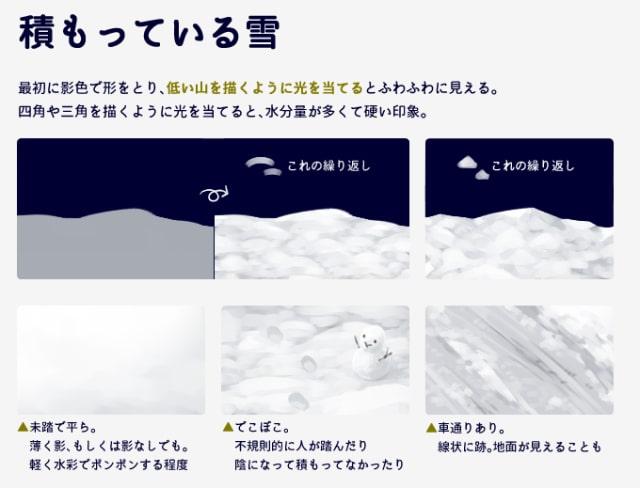 雪の描き方3