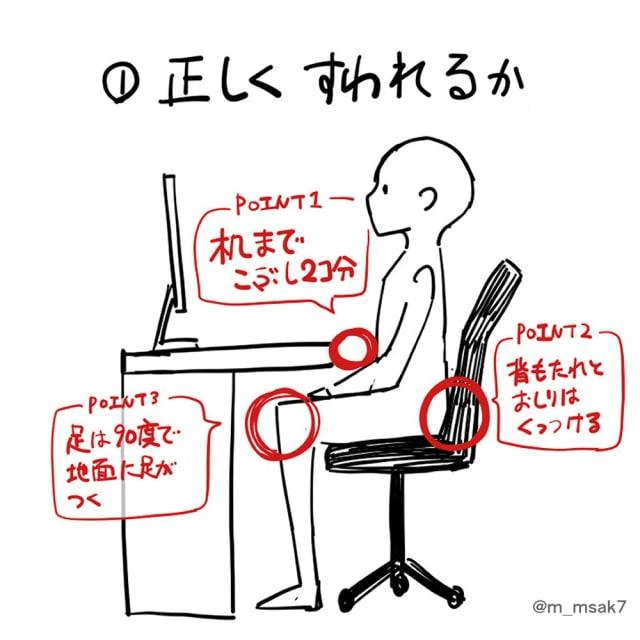 作業椅子の選び方1