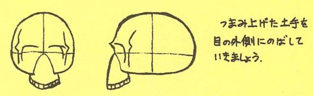 骸骨の描き方8