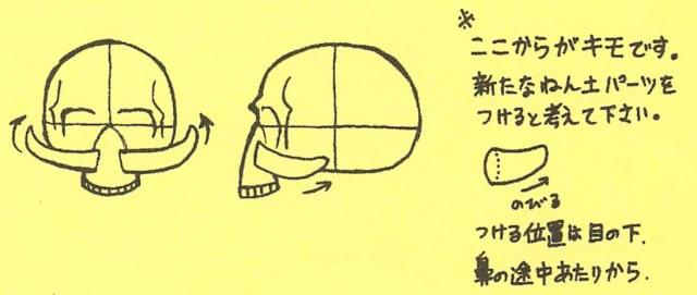 骸骨の描き方10