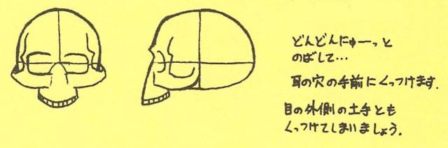 骸骨の描き方12