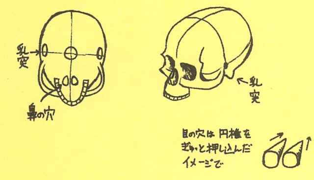 骸骨の描き方13