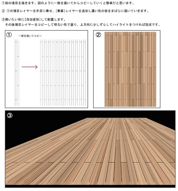 フローリング床の描き方5