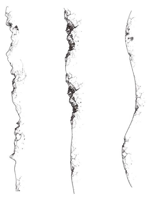 クリスタ背景ブラシで壊れた建物を描く1