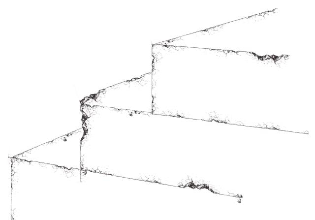 クリスタ背景ブラシで壊れた建物を描く4