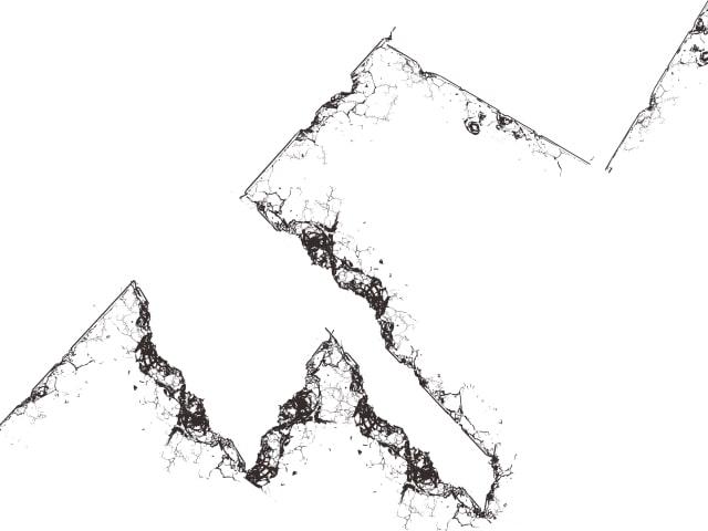 クリスタ背景ブラシで壊れた建物を描く5