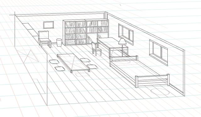 部屋の描き方6