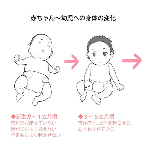 赤ちゃんから幼児への体の変化01