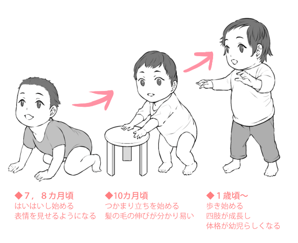 赤ちゃんから幼児への体の変化02