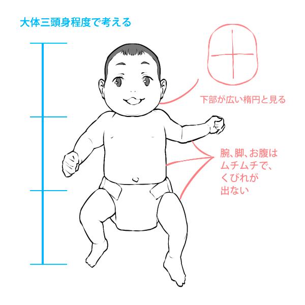 赤ちゃんの体についての説明
