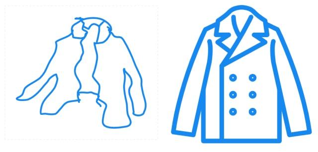 服のイラストの比較
