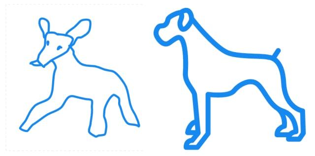 犬のイラストの比較