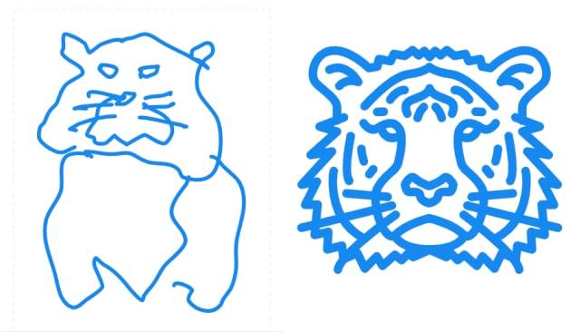 虎のイラストの比較