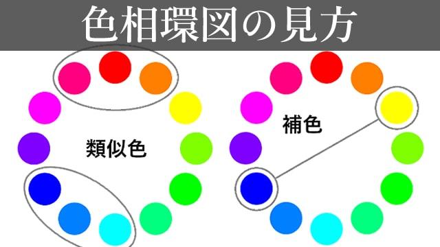 色相環図の見方をご紹介!12色の色相環図で補色や類似色を学ぼう。