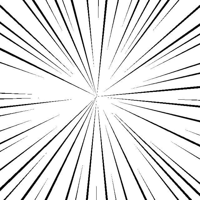 プリセットの集中線