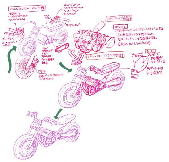 レバー・スイッチ・サイレンサー・エンジン・パイプ・シート