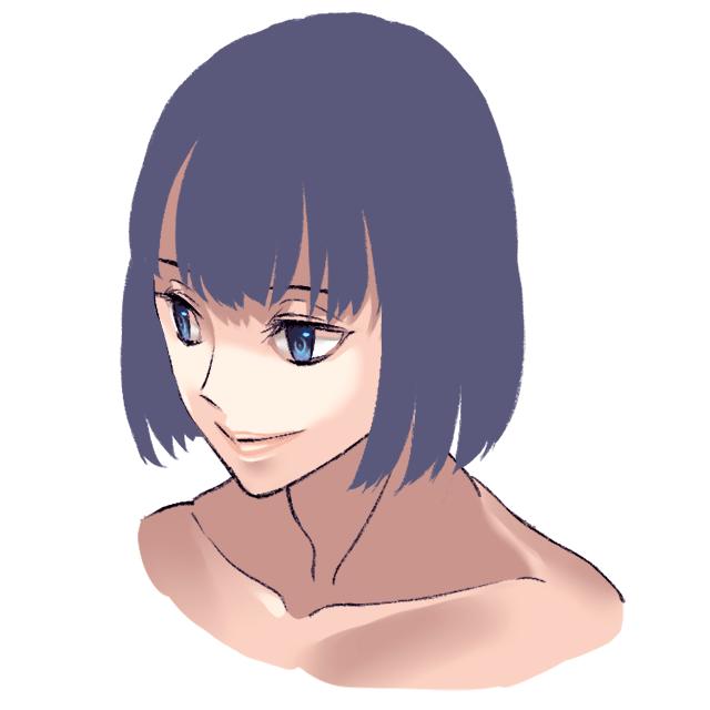 2_髪型のシルエット