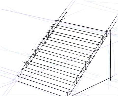 他の段の水平方向の板を描く