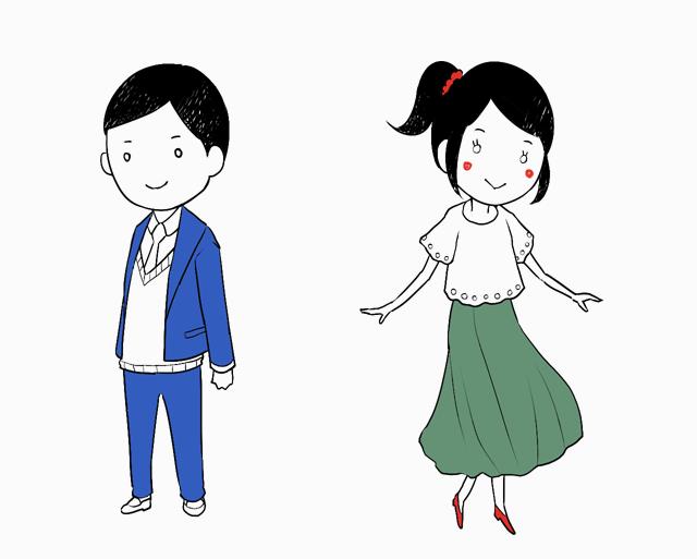 3:男女の描き分け