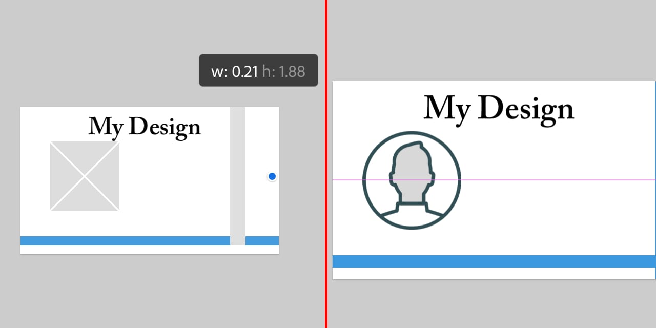 画像やテキストボックスを調整する際に