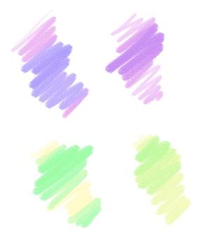 筆圧で使い分ける2色鉛筆