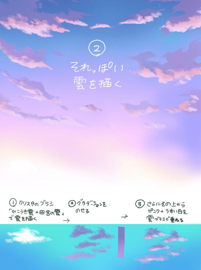 2.雲を描く