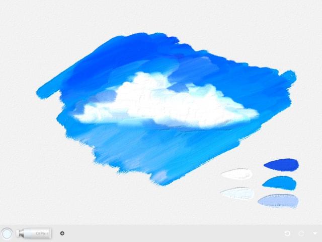油彩絵の具の雲
