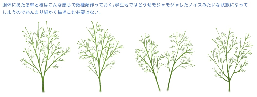 茎ブラシの使用例