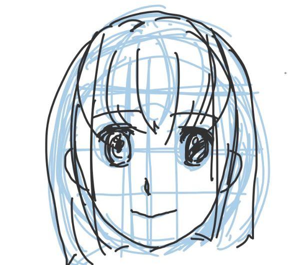 パルミー初心者講座正面の顔練習
