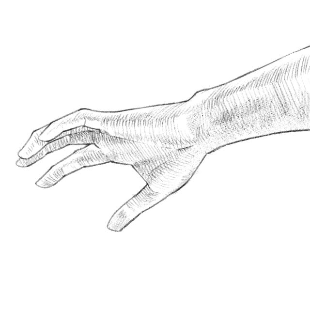 手のデッサン07