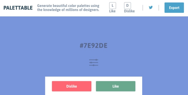 Palettableの画面