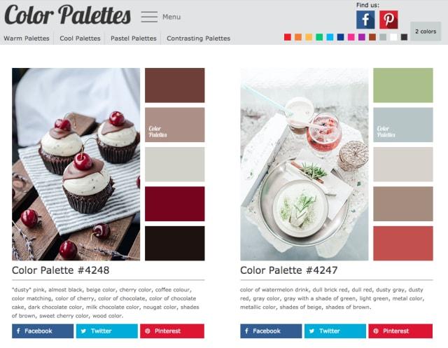Color Palettesの画面